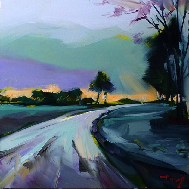 """""""Feldweg"""" original fine art by Jurij Frey"""