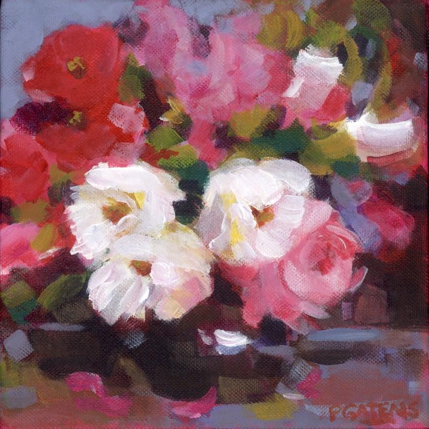 """""""White Roses"""" original fine art by Pamela Gatens"""