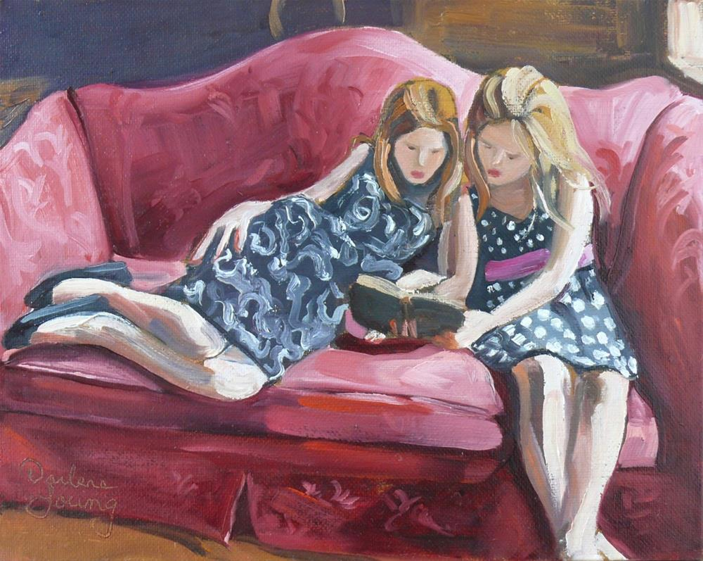 """1051 The Good Book, 8x10, oil on board"" original fine art by Darlene Young"