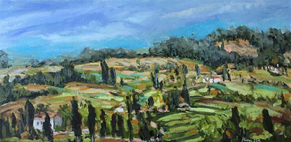 """Tuscan View"" original fine art by Alina Vidulescu"