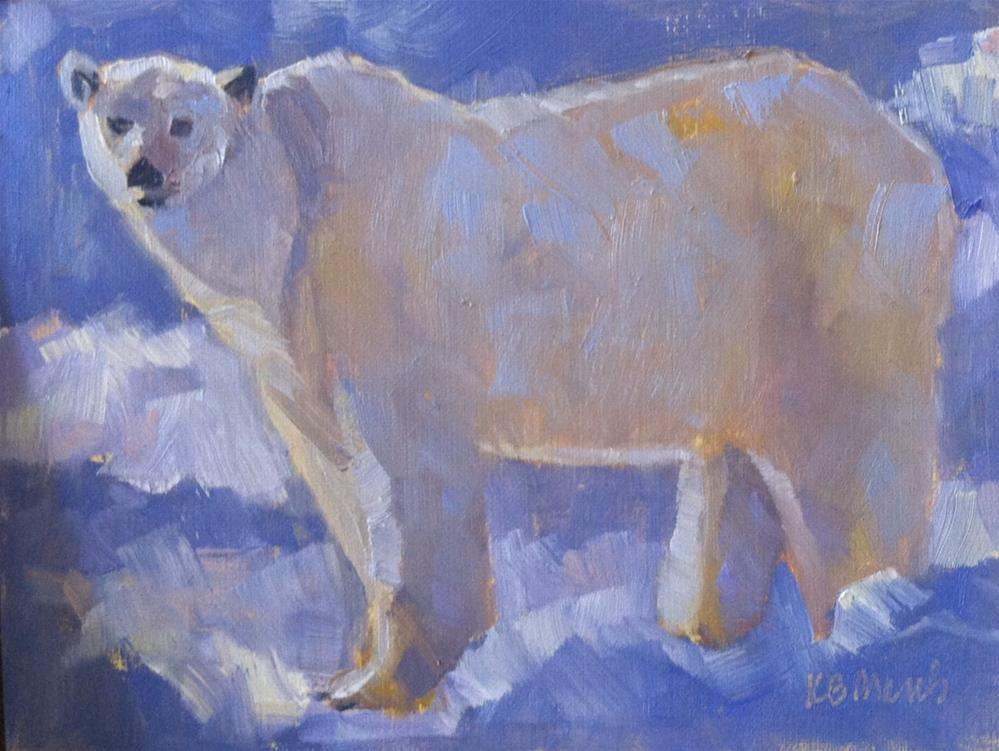 """Polar Bear"" original fine art by Katharine March"