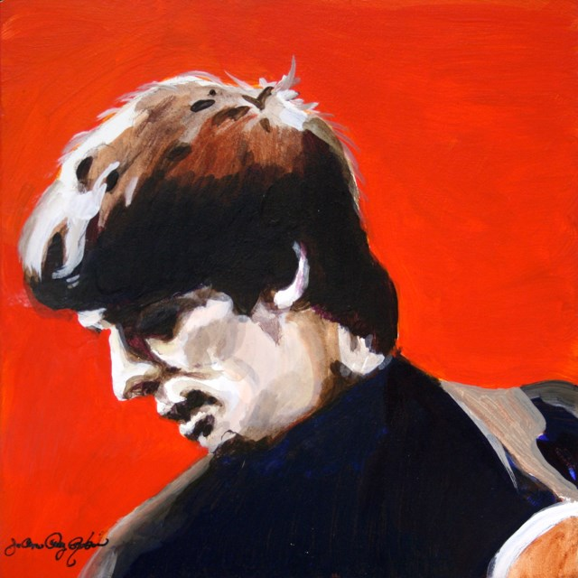 """Guitar George"" original fine art by JoAnne Perez Robinson"