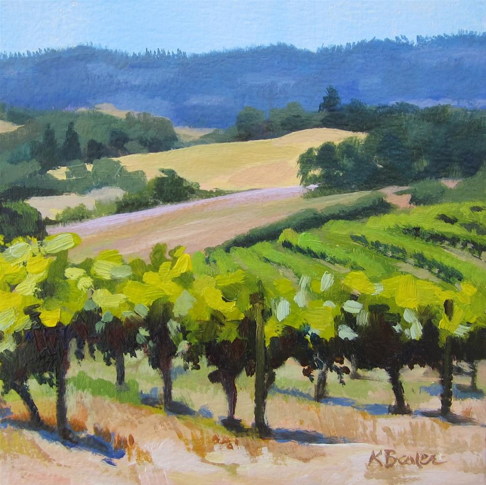 """Wine Country"" original fine art by Kaethe Bealer"