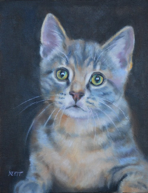 """Little Tiger"" original fine art by Tracy Klett"