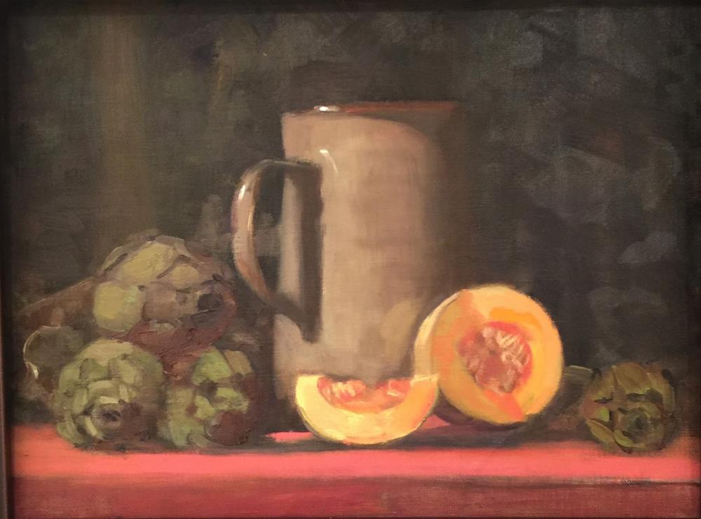 """""""Produce From Limoux and a Presentation in Saugatuck"""" original fine art by Ann Feldman"""