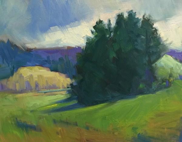 """Easter Egg Landscape"" original fine art by Patti McNutt"