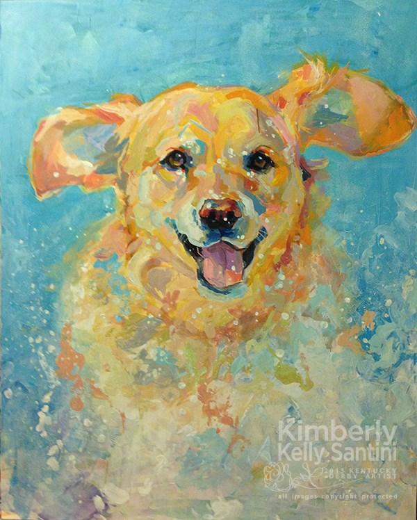 """Powder Express"" original fine art by Kimberly Santini"