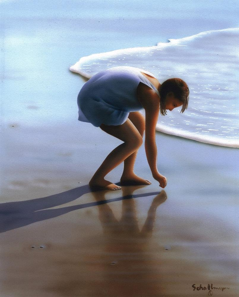 """The Beachcomber"" original fine art by Fred Schollmeyer"