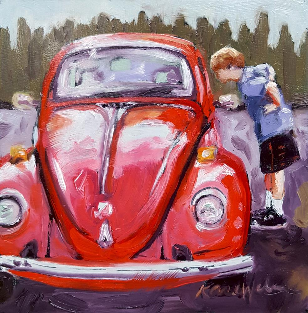 """""""Rowan and the Bug"""" original fine art by Karen Weber"""