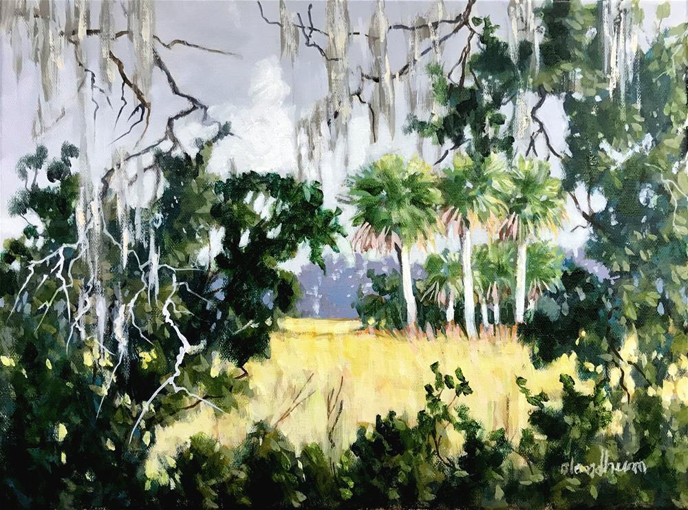 """""""East Hay Field"""" original fine art by Linda Blondheim"""