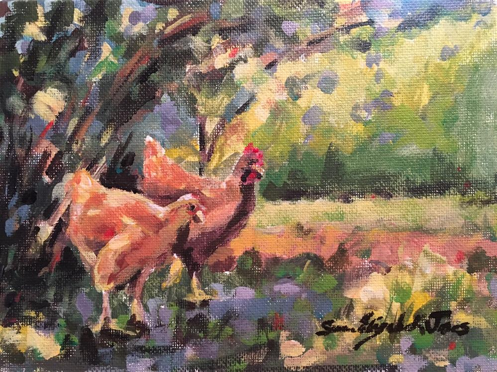 """Eggicurean"" original fine art by Susan Elizabeth Jones"