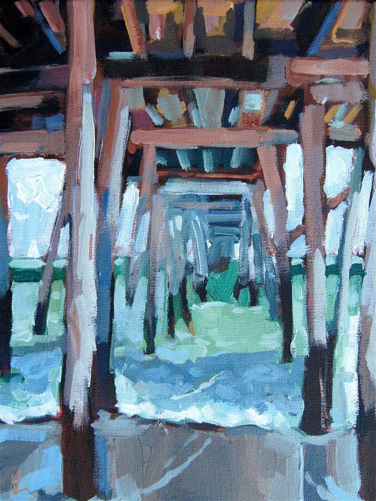 """Under the Pier"" original fine art by Kevin Larson"