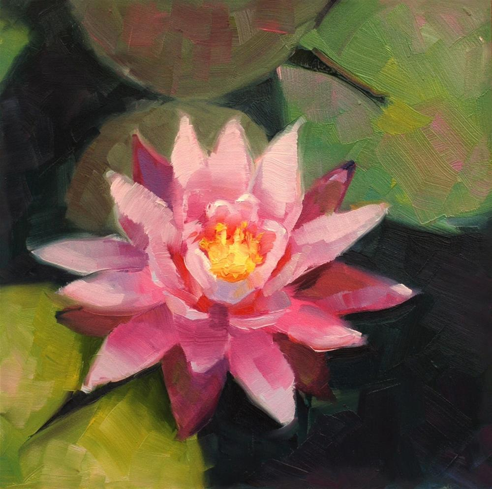 """No. 662 VanDusen Water Lilly"" original fine art by Susan McManamen"