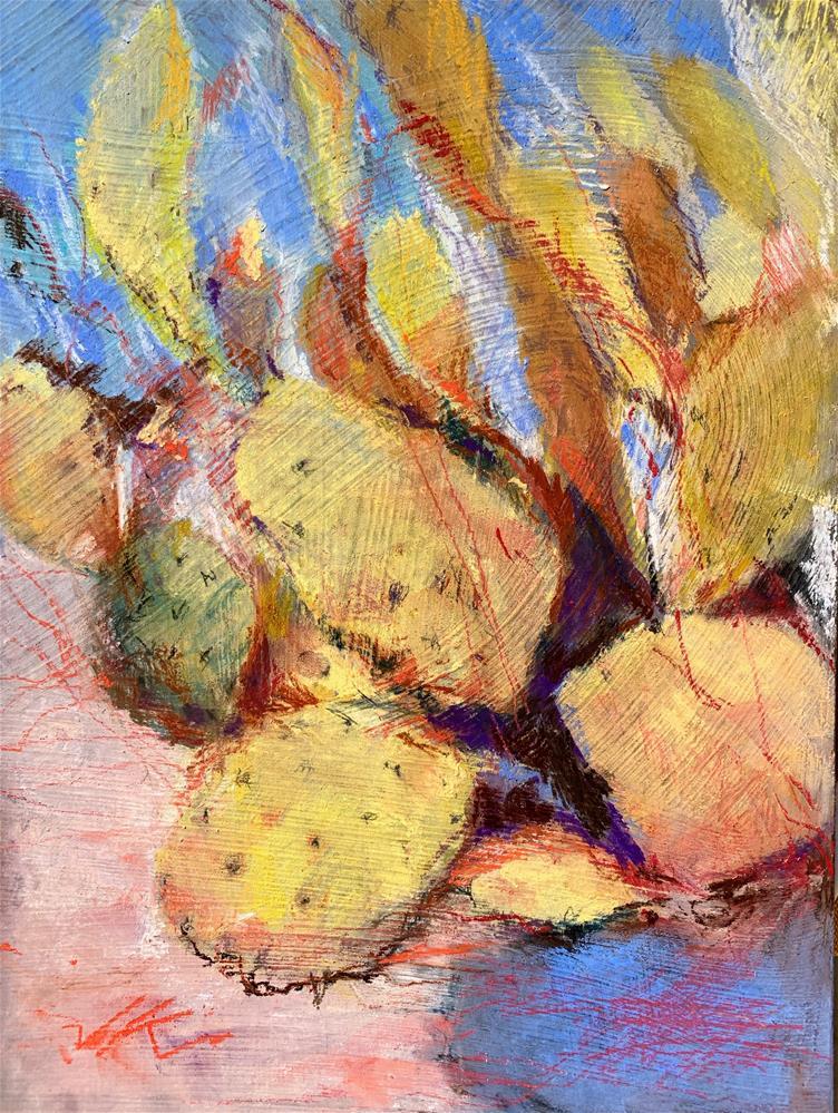 """Cactus"" original fine art by Jean Krueger"