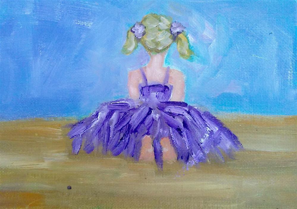 """""""Little Ballerina"""" original fine art by Gerri Obrecht"""