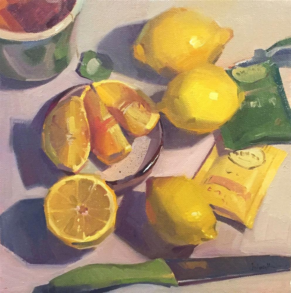 """Green Tea"" original fine art by Sarah Sedwick"
