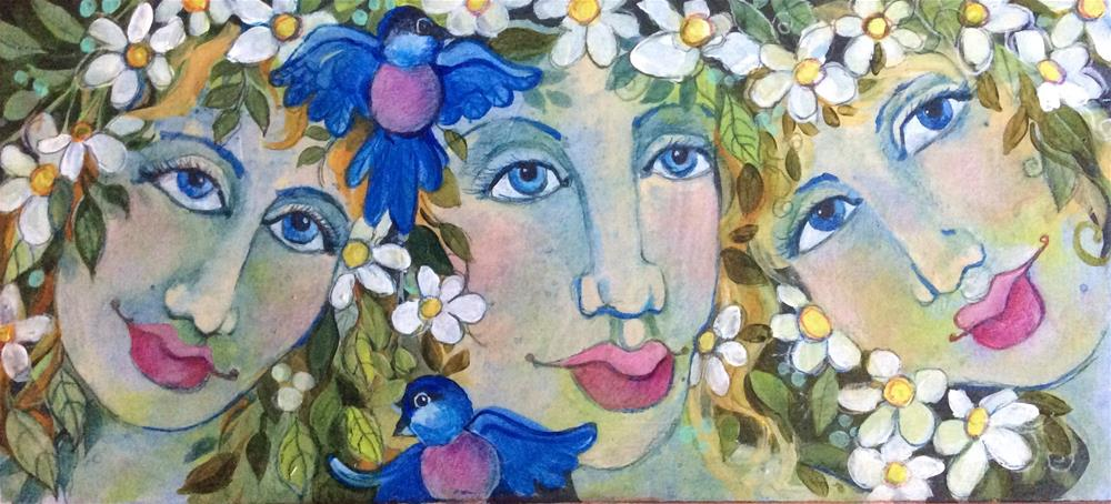 """Three Girls"" original fine art by Laurie Sucharda"
