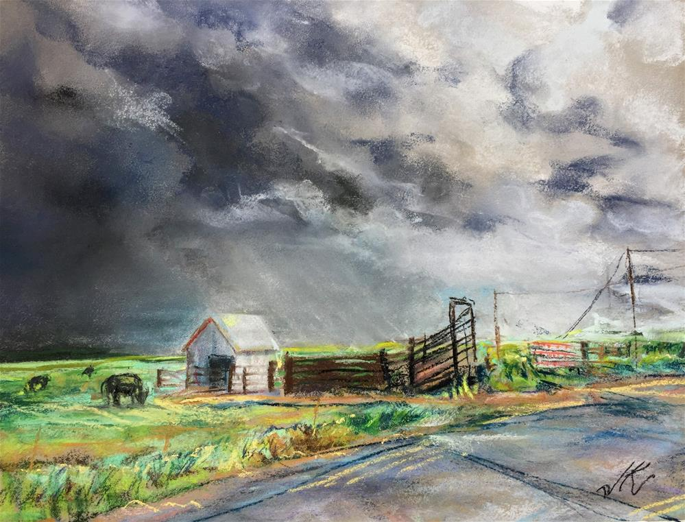 """Kettle Lane, Westcliffe, CO"" original fine art by Jean Krueger"