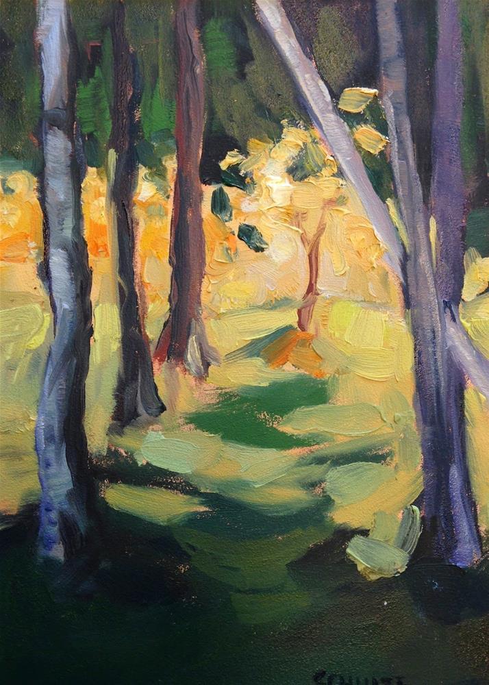 """Sunlight and Shadow on Islesford"" original fine art by Lynne Schulte"