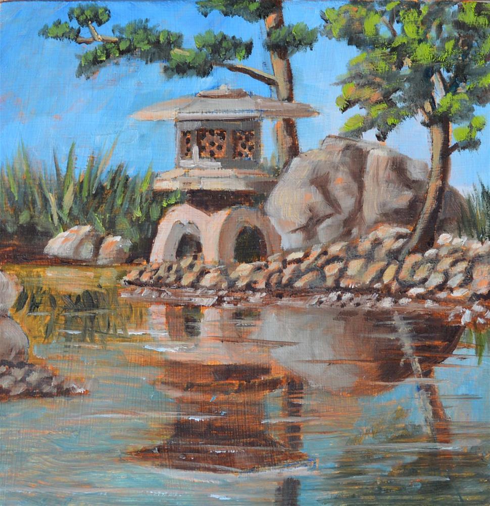 """""""Tea Garden"""" original fine art by Robert Frankis"""