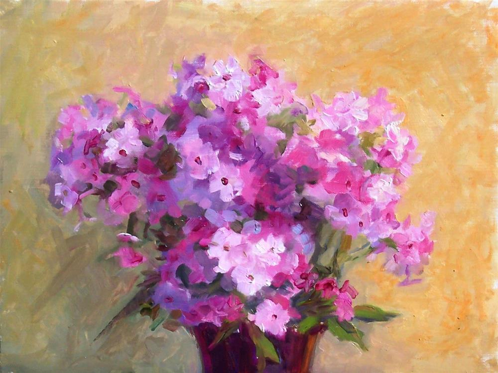 """Garden phlox,still life,oil on canvas,8x10,priceNFS"" original fine art by Joy Olney"