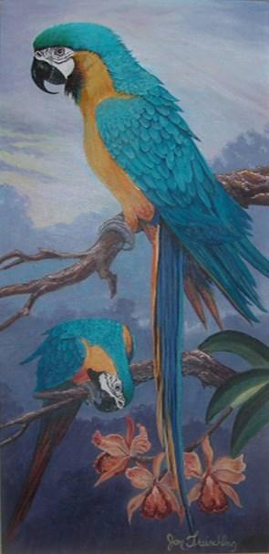 """Birds of a feather"" original fine art by Janice Freischlag"