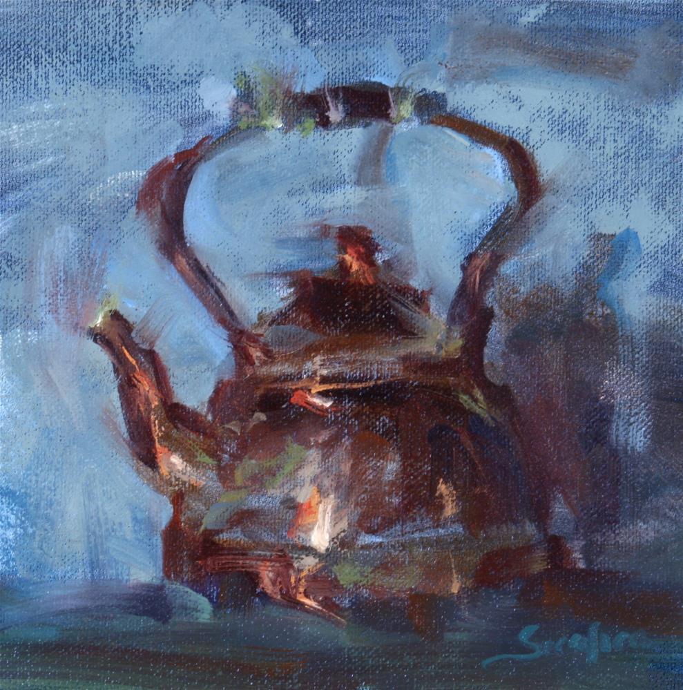 """Copper Kettle in Blue"" original fine art by Scott Serafica"