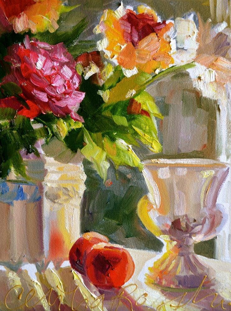 """SUNLIT"" original fine art by Cecilia Rosslee"