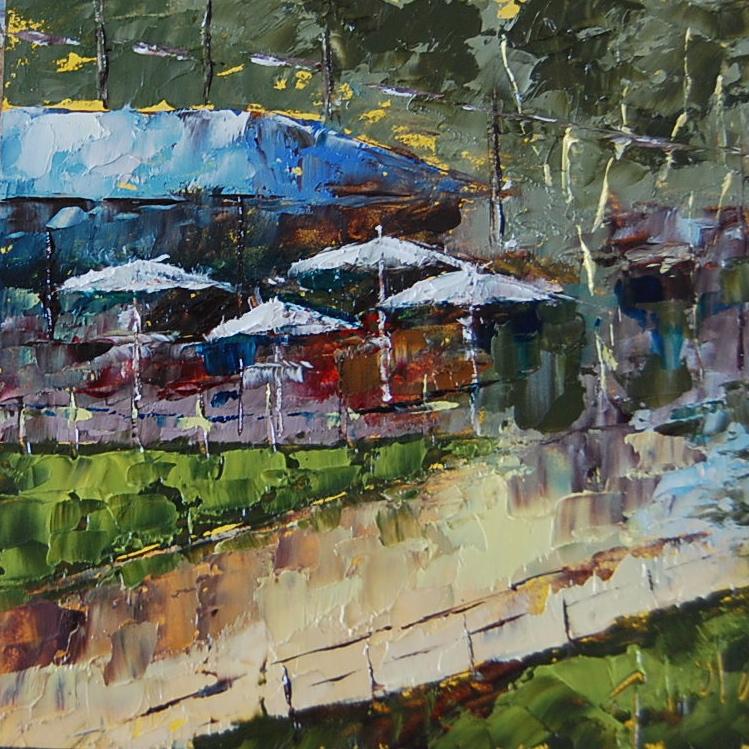 """""""Mini Crystal Cove"""" original fine art by Deborah Harold"""