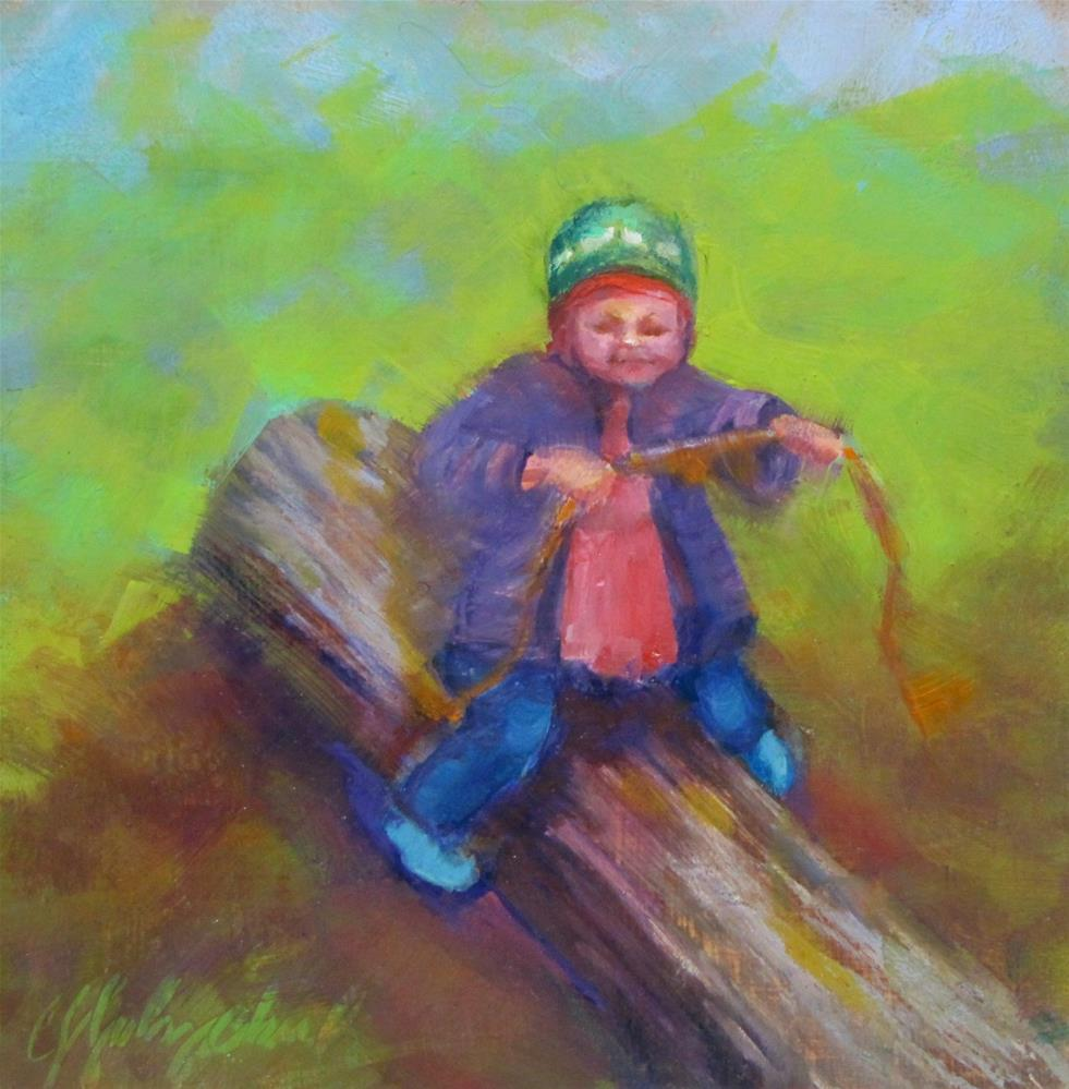 """""""Riding Lessons"""" original fine art by Christine Holzschuh"""