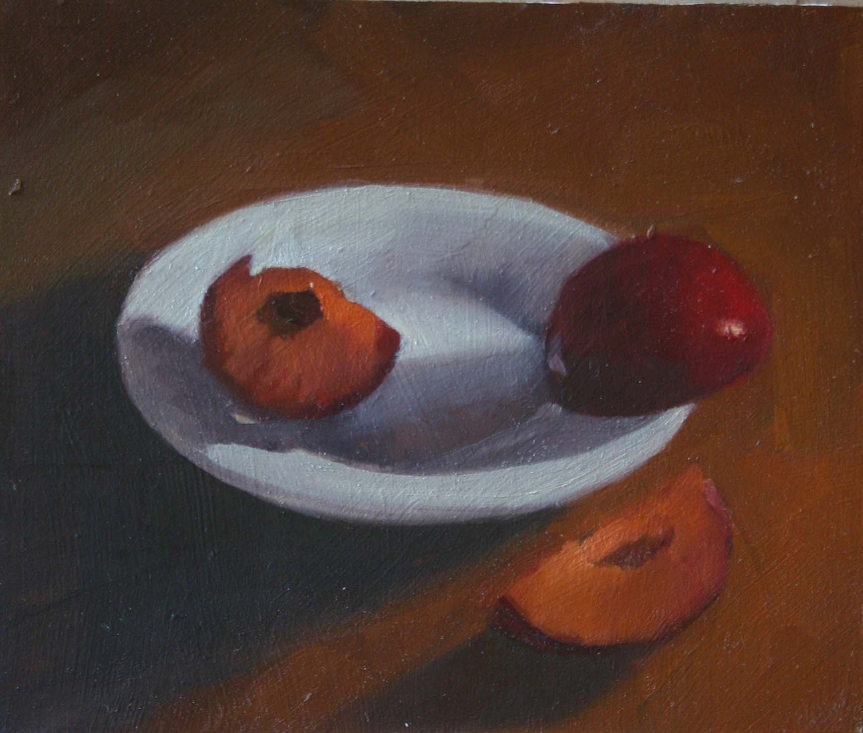 """Sliced and Plated"" original fine art by Liz Balkwill"