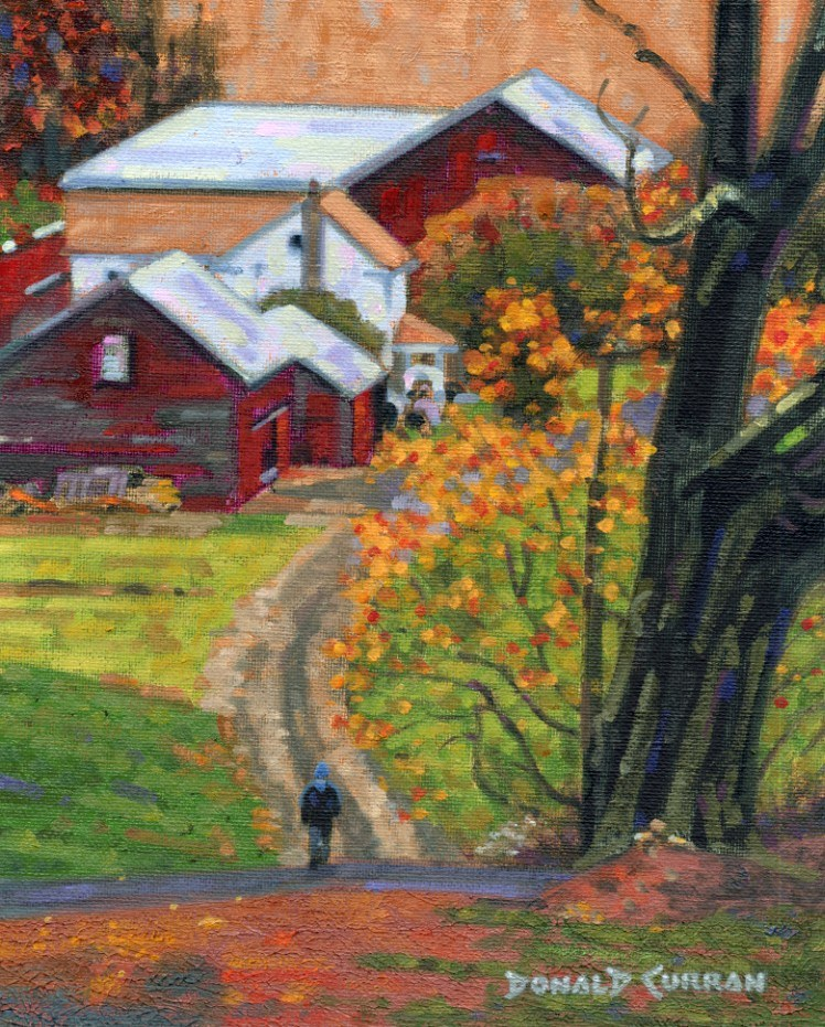 """""""Country Road"""" original fine art by Donald Curran"""