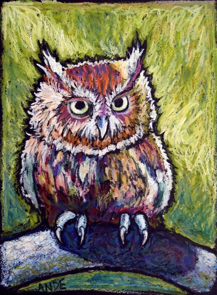 """Screech"" original fine art by Ande Hall"