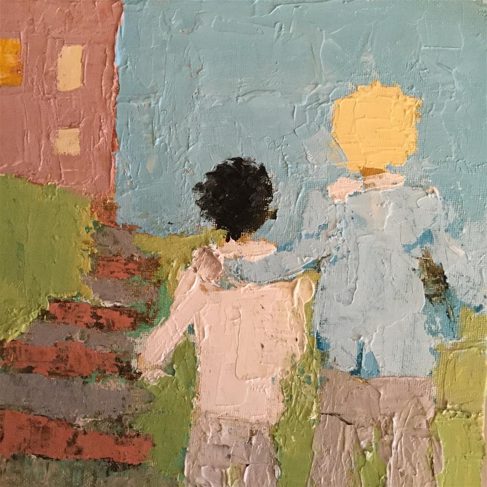 """""""First day for Robert"""" original fine art by pamela kish"""