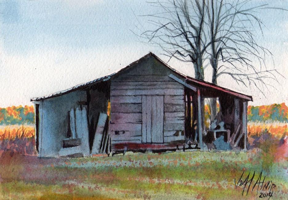 """The Far Shed"" original fine art by Jeff Atnip"