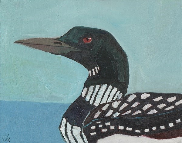 """Loon"" original fine art by Elizabeth See"