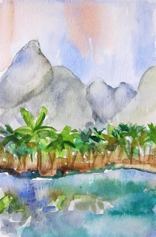 """""""Xiufeng China"""" original fine art by Delilah Smith"""