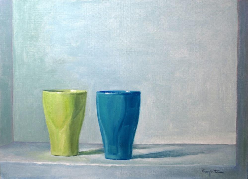 """""""Dos vasos"""" original fine art by Eduardo Carpintero"""