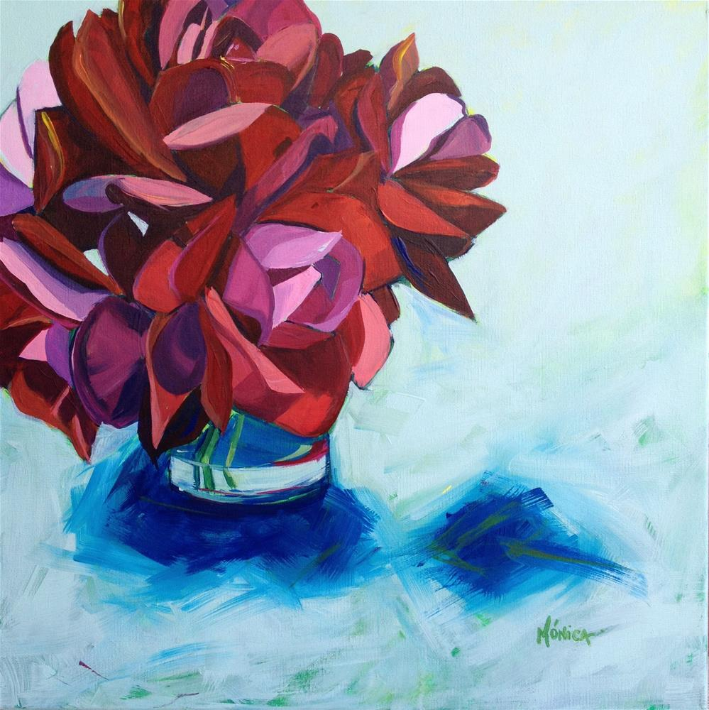 """""""Shades of Red"""" original fine art by Mónica Linares"""
