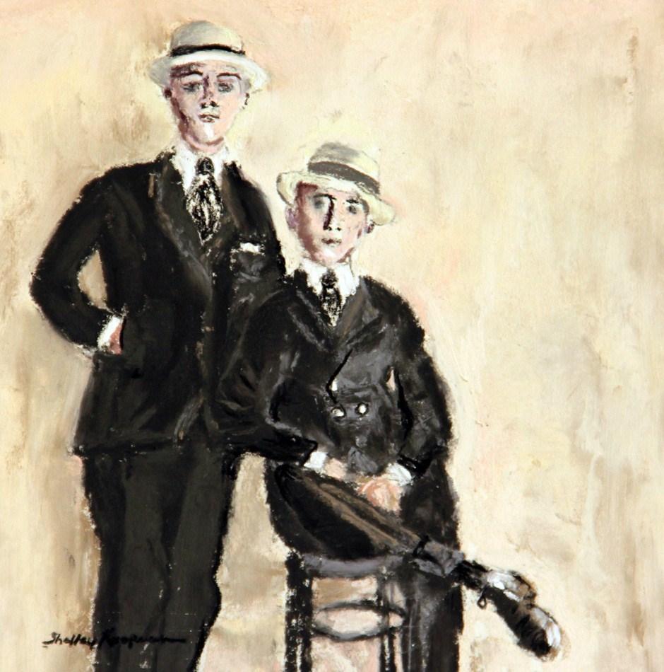 """""""Dapper, 1920's"""" original fine art by Shelley Koopmann"""