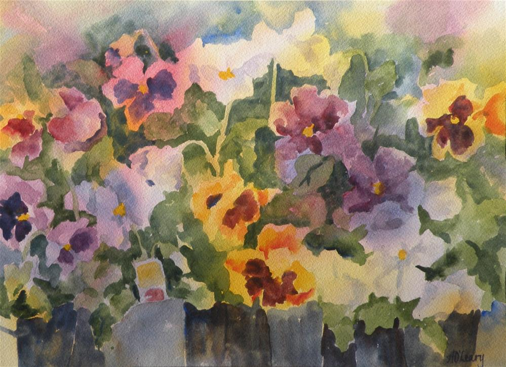 """Autumn Splash"" original fine art by Alice O'Leary"