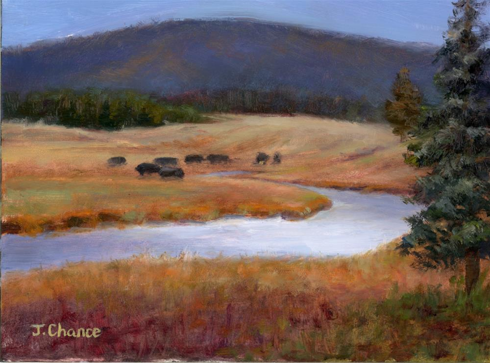 """Yellowstone National Park"" original fine art by Jung Chance"