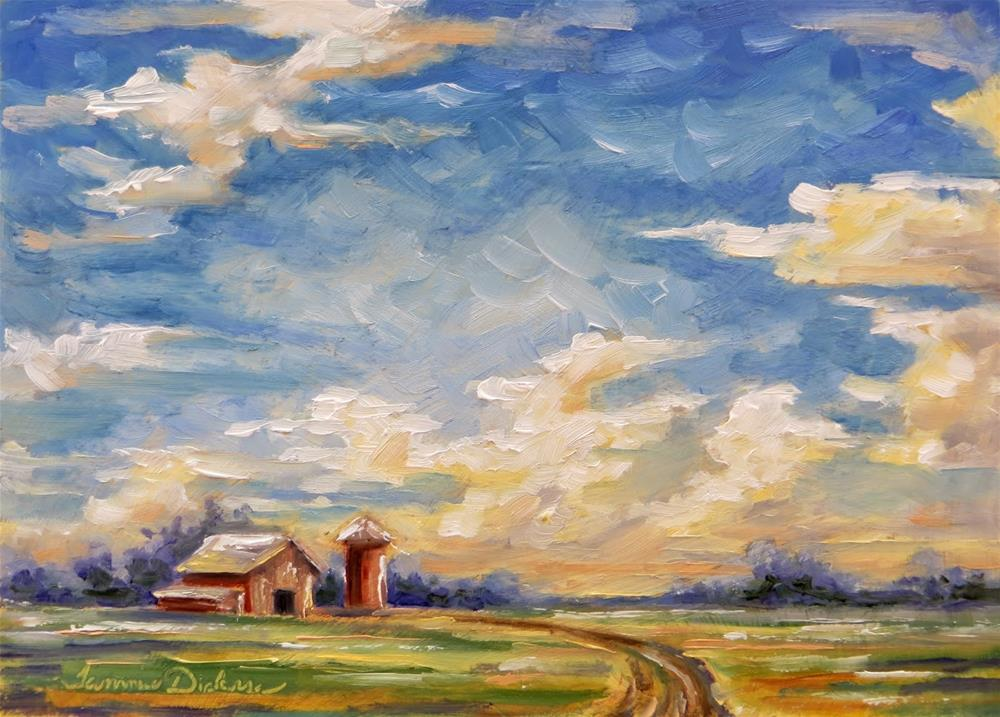 """""""Clouds Over the Farm"""" original fine art by Tammie Dickerson"""