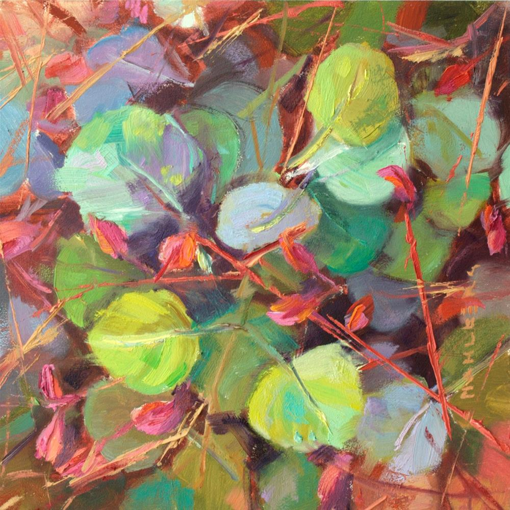 """Happy Leaves"" original fine art by Cynthia Mahlberg"