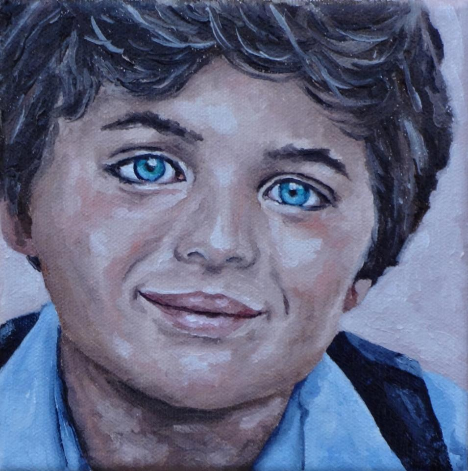 """Boy I"" original fine art by Jacinthe Rivard"