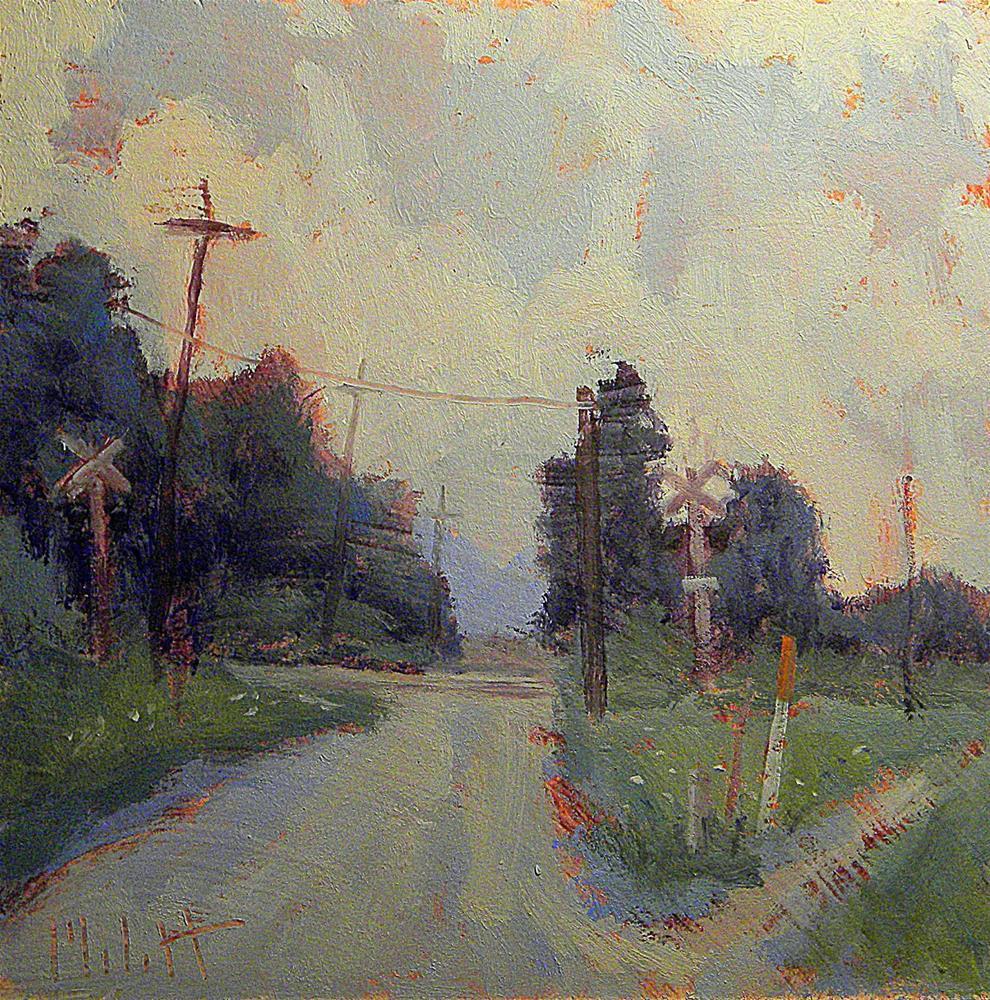 """Beauty in the Mundane Railroad Crossing Daily Paintings Heidi Malott"" original fine art by Heidi Malott"