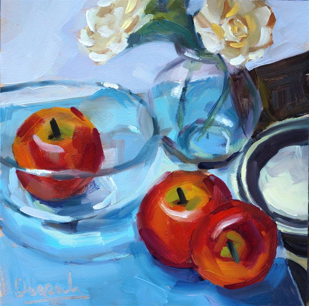 """Apples"" original fine art by Dipali Rabadiya"