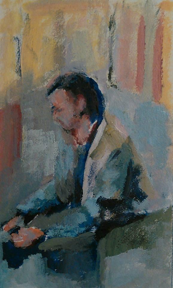 """Waiting"" original fine art by Ann Rudd"