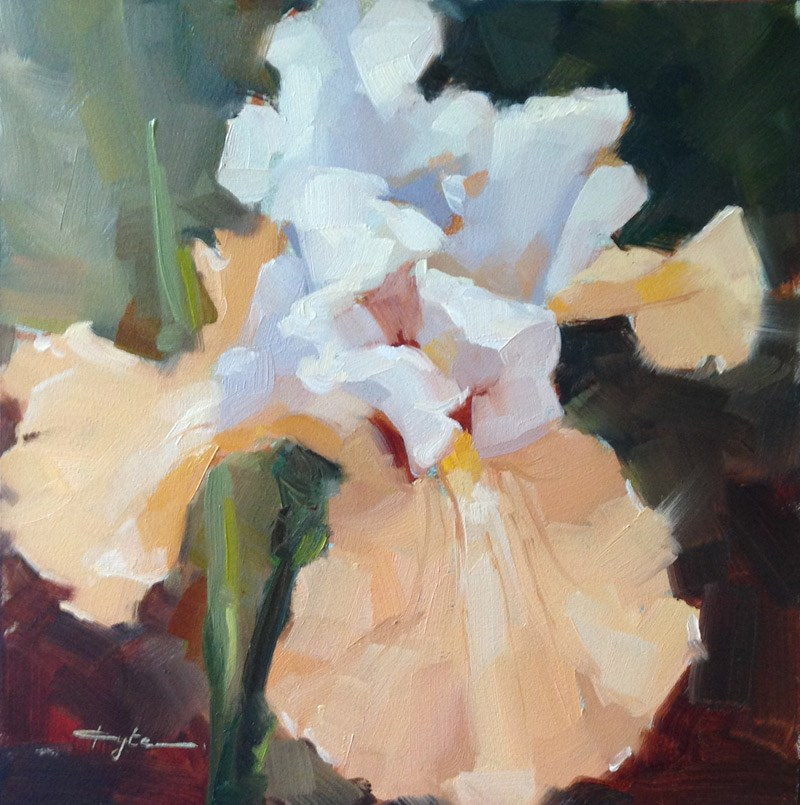 """Tan Iris"" original fine art by Katia Kyte"