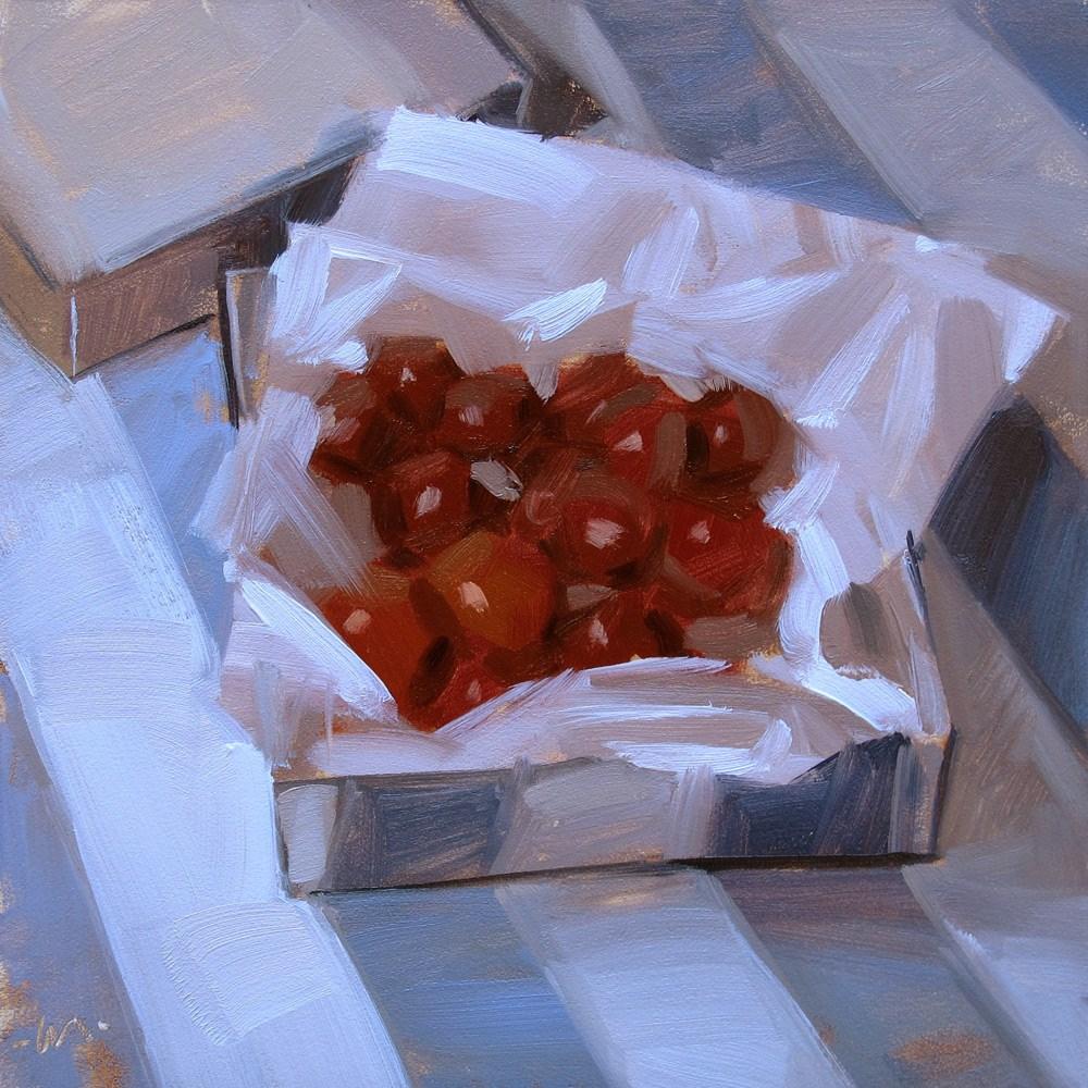 """Tiny Plums"" original fine art by Carol Marine"